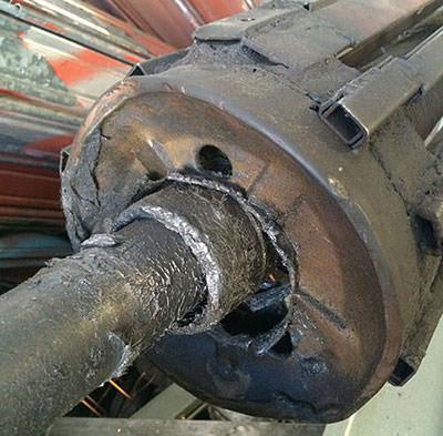 motor para cierre metálico en mal estado